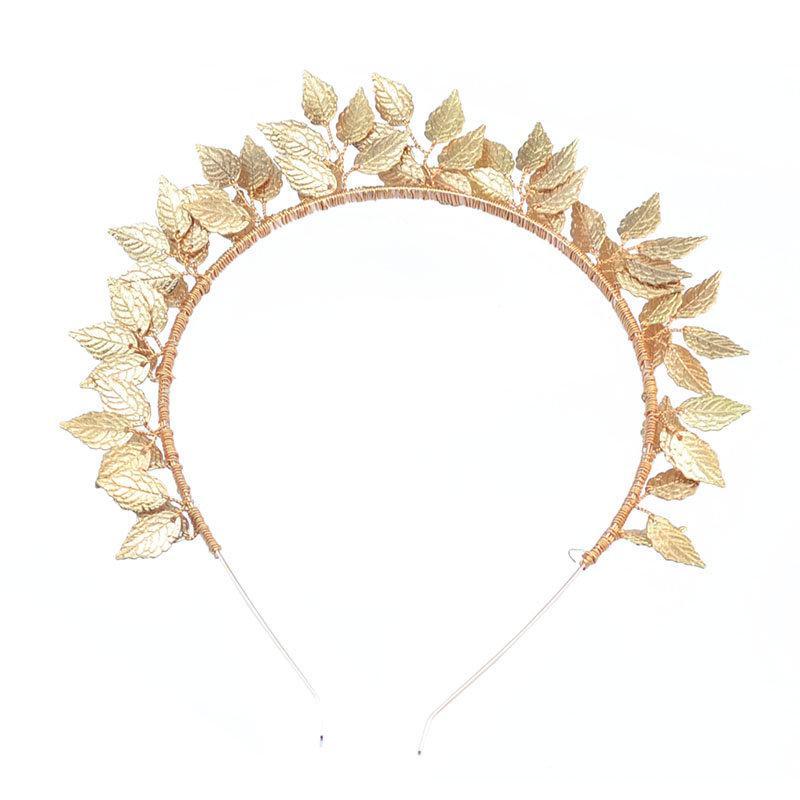 Wedding - Wedding Leaf Headband. Greek Goddess Leaf Crown, Leaf Tiara,Boho Wedding Tiara, Wedding Headpiece, Gold Leaf Tiara, Woodland Bridal Crown