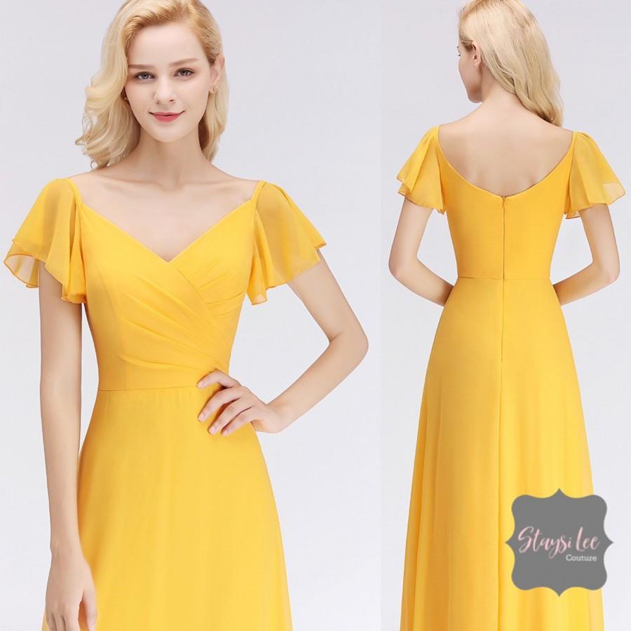 Wedding - Flutter Sleeve Bridesmaids Dress ... 14 Dress Styles in 34 Colors ... Sizes 2-26 ... Bridesmaids, Prom Dress, Wedding Dress