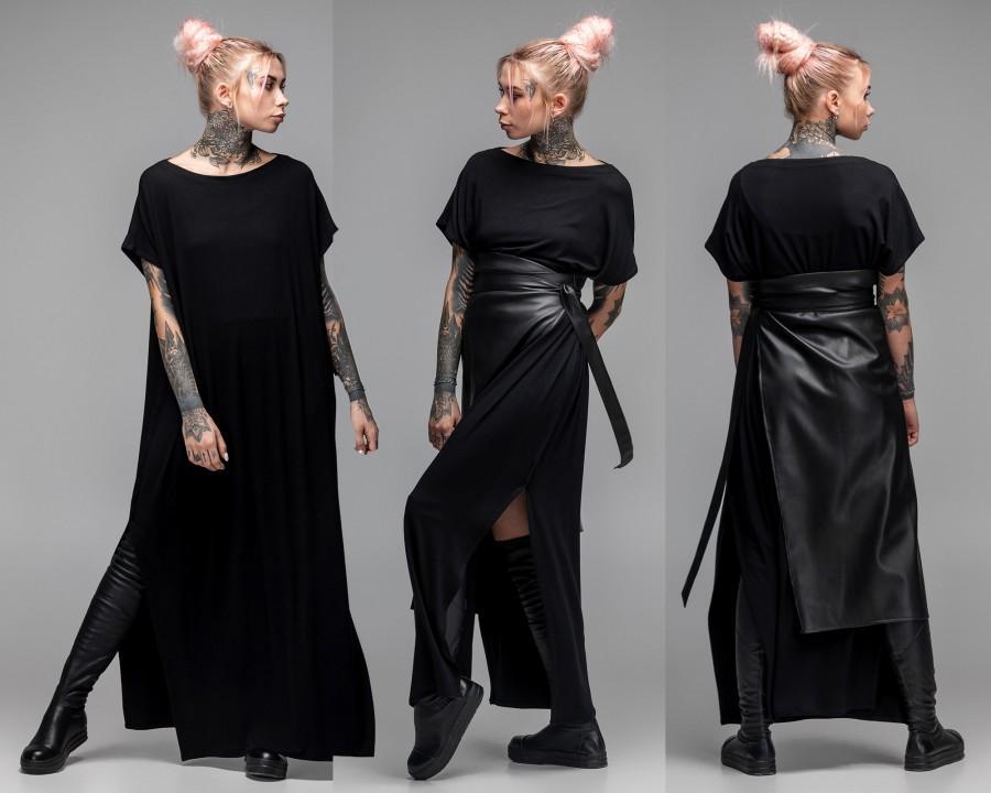 Wedding - Black maxi dress, oversized dress, infinity dress, plus size dress, party dress, A0027