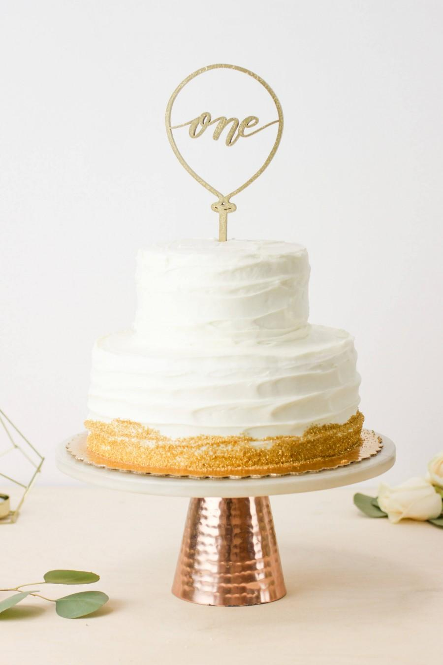 Wedding - One Balloon Laser Cut Cake Topper - First Birthday - Letters To You Hand Lettered Cake Topper