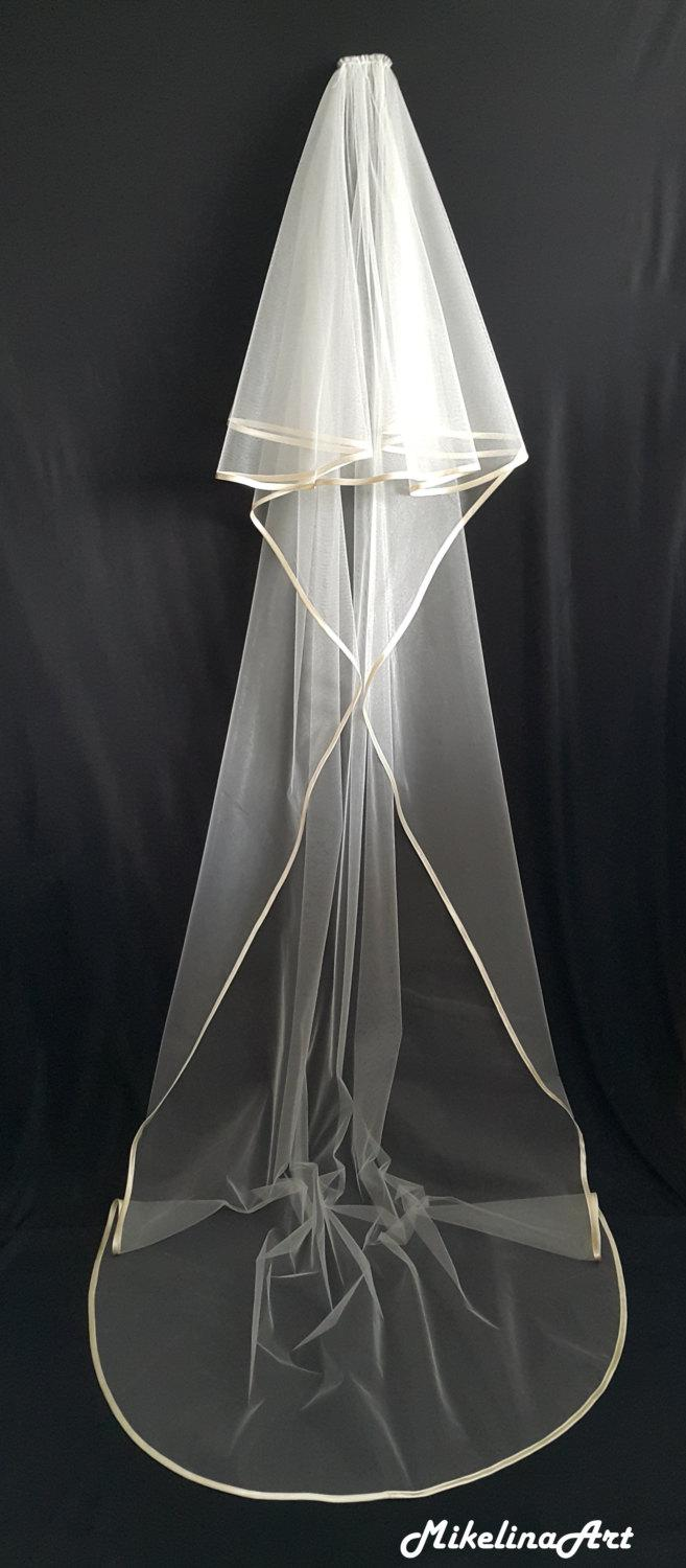 Hochzeit - Cathedral Veil, Two Layers, Ivory