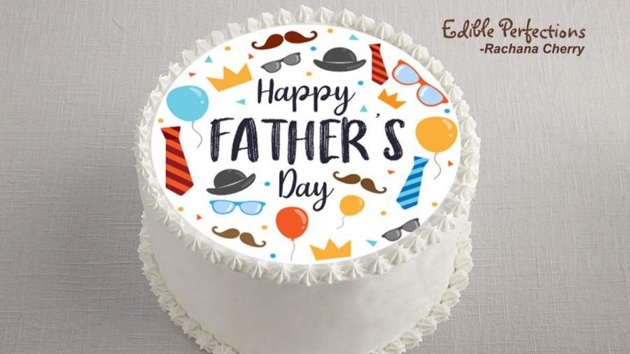 Mariage - Father's Day Edible Image Cake Topper