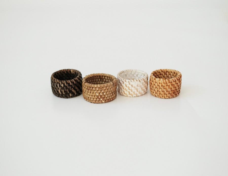 Mariage - Rattan napkin ring / Napkin ring / wicker napking ring