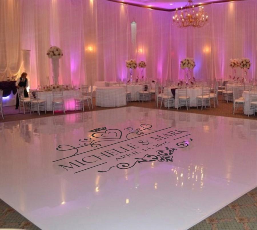زفاف - Wedding Dance Floor Decal, Wedding Floor Monogram, Vinyl Floor Decals, Wedding Decor