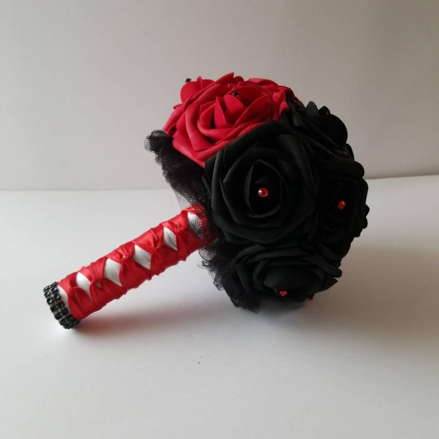 Свадьба - Harley Quinn bouquet,  superhero wedding, comic book bouquet superhero bouquet,comic book, geek wedding,themed wedding,corsage, Boutonnieres