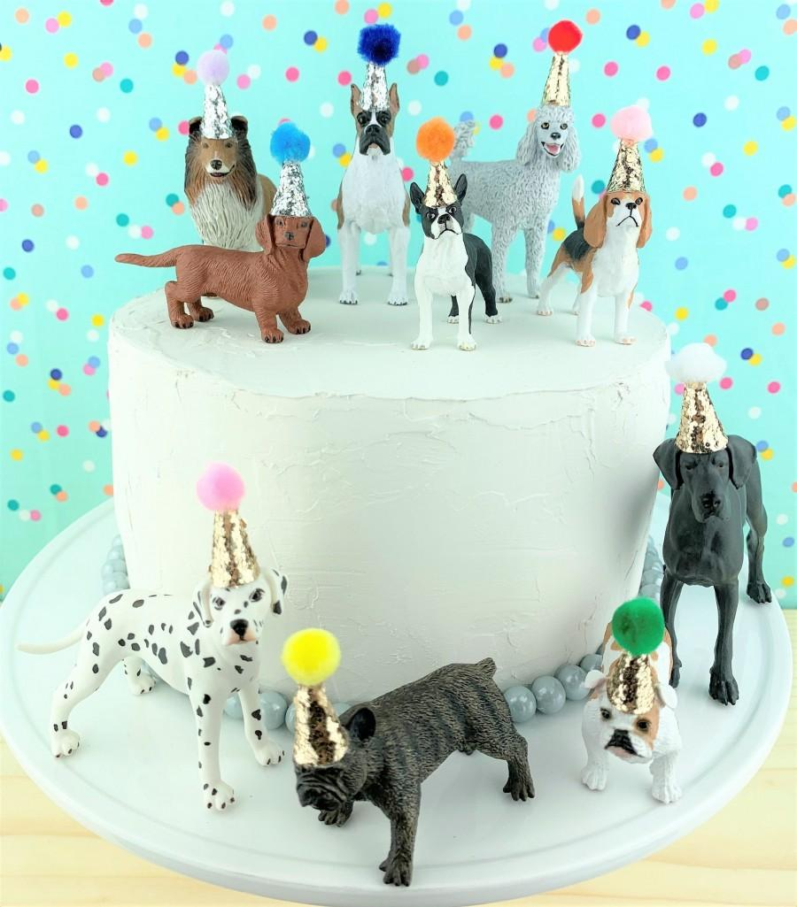 Wedding - Dogs Cake Topper/Pets Party Cake/Pets Animal Cake Toppers/Party Animals/Dog Party Cake