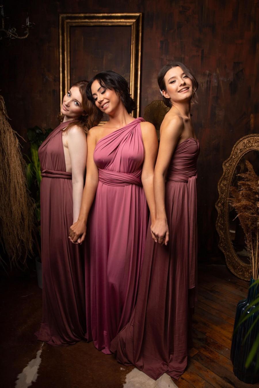Hochzeit - Infinity Bridesmaid Party Dress With Free Bandeau, Convertible Dress, Bridesmaid Dress, Long  Dress Plus Size, Multi-way Dress,  Wrap Dress