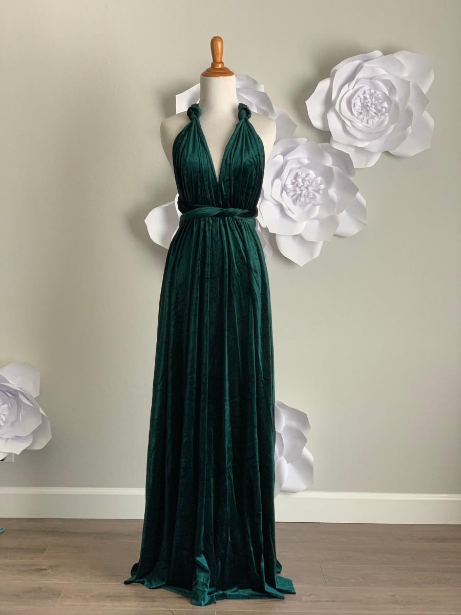 زفاف - Velvet dress ,Velvet Bridesmaid Dress , velvet long infinity Dress velvet wrap dress velvet party dress Evening dress, Free Shipping