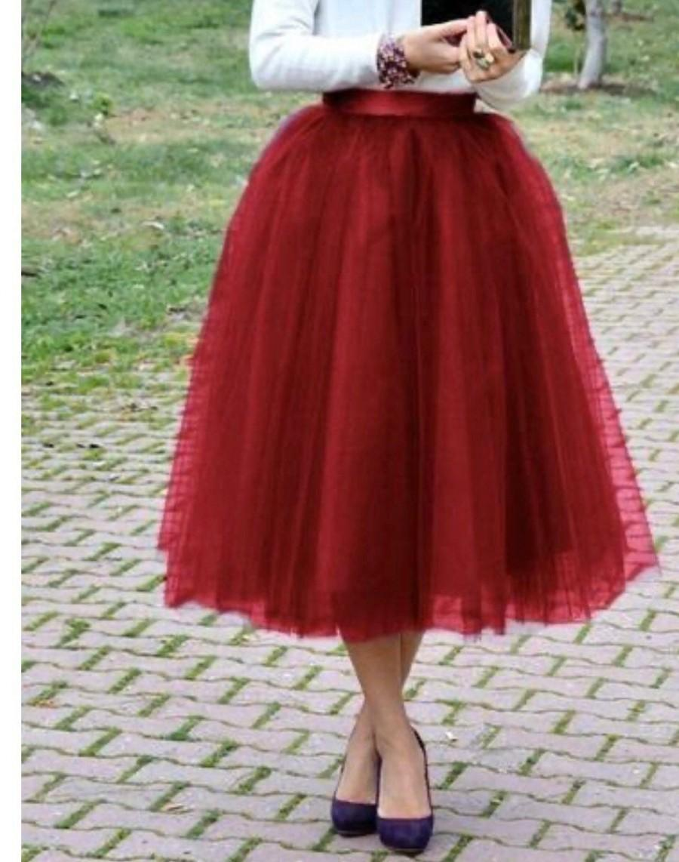 Hochzeit - Wine Tulle Skirt Bridesmaid Dress Womens Custom Skirt Burgundy Tulle Skirt Wedding Skirt Handmade Skirt breauxsews Formal Dresses for Women
