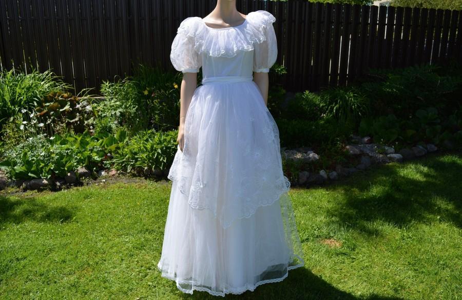 Wedding - Wedding dress vintage Belle lace dress White cinderella dress