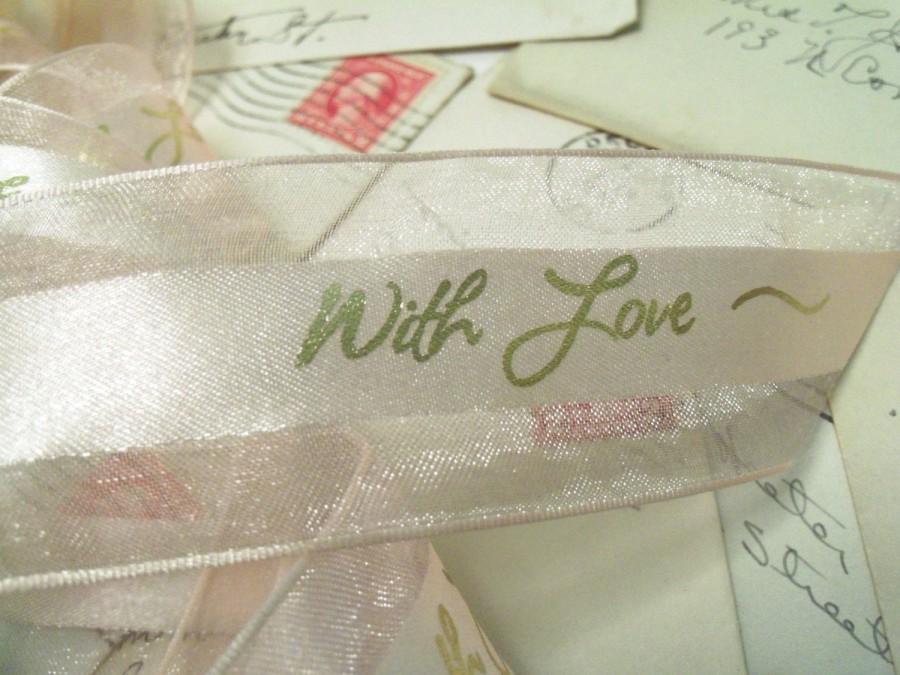 Hochzeit - 4 Yards Pink Ribbon, Love, Wedding, Pink Wedding, Sheer Ribbon, Valentine