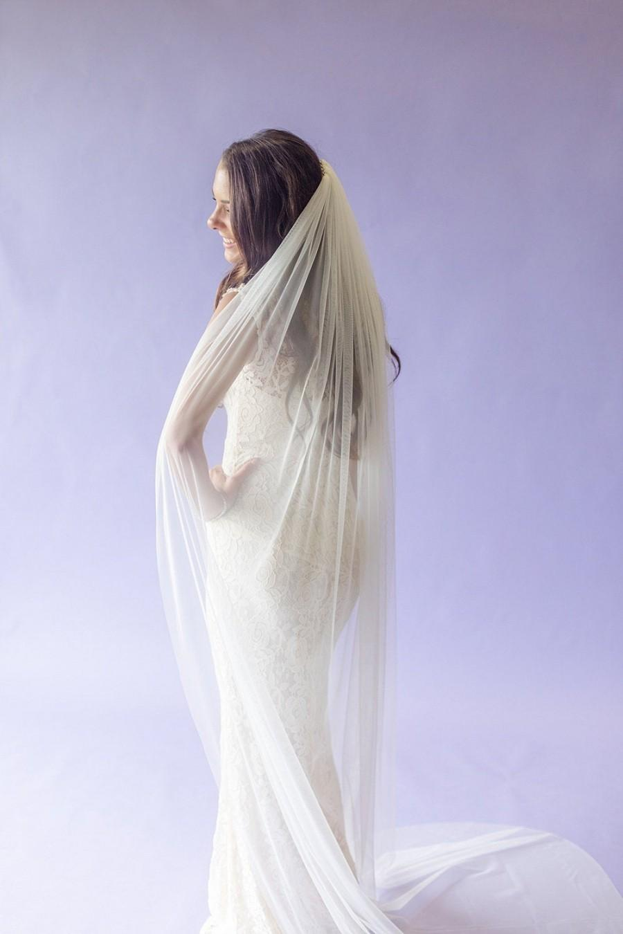 Mariage - Very Soft Wedding Veil- English Net