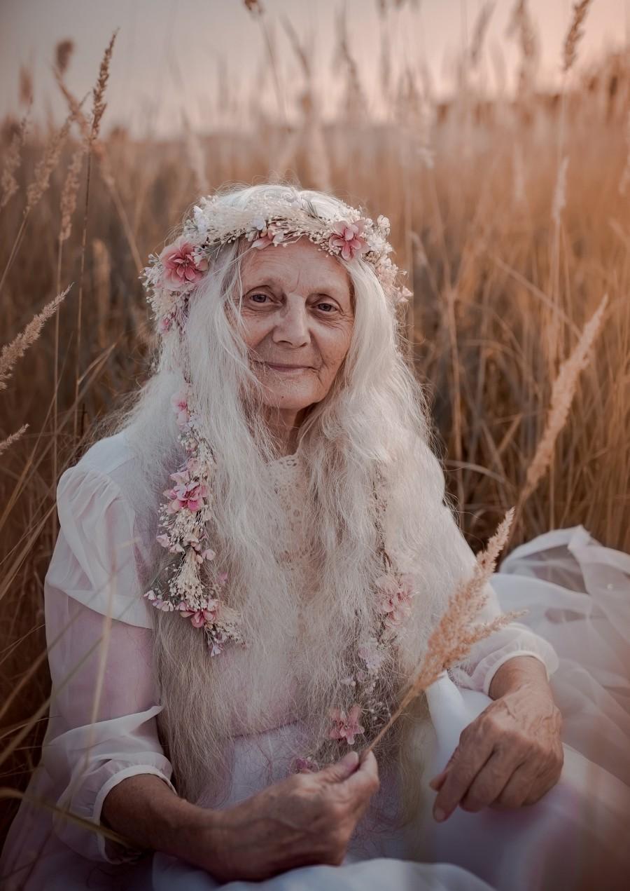 زفاف - Flower fairy Hair Garland Wedding Hair Flowers Head Wreath Flower Crown Pink White Bridal Wreath Fairy Wreath Floral Hair Crown