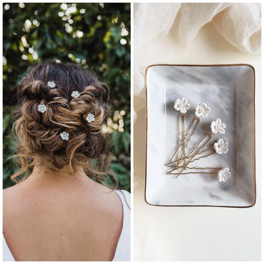 زفاف - Boho Wedding Hair Accessories, Gold Floral Hair Pin, Bridal Hair Piece,  Bridesmaid Hair Pin, Wedding hair Accessory, Hair Vine, Tiny Flower