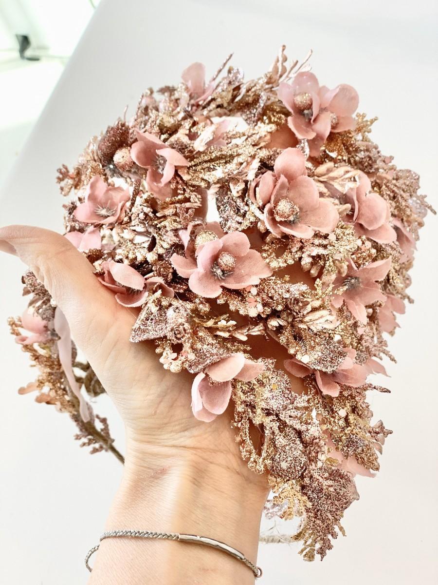 زفاف - Rose Sparkle Crown- Flower Crown- Birthday Crown- Wedding Flower Crown