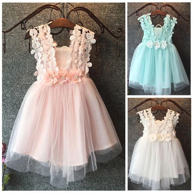 Mariage - Cute girls summer dress- tulle flower girl dress- Tulle toddler dress
