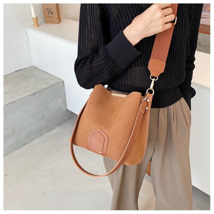 زفاف - Suede Leather Bag, Leather Crossbody Bag, Leather Purse, Messenger Bag, Tote Bag, Women Bag, Gift For Her, 4 Colors Purse Bag