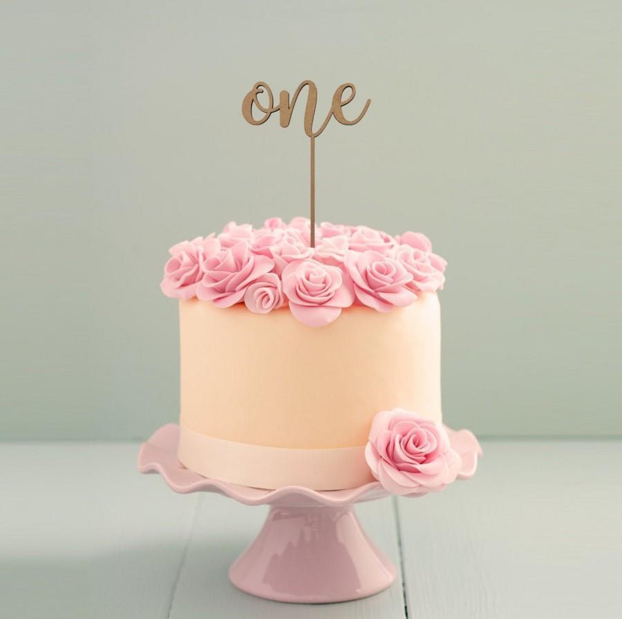 Wedding - One cake topper, 1 cake topper, Smash cake topper, first birthday