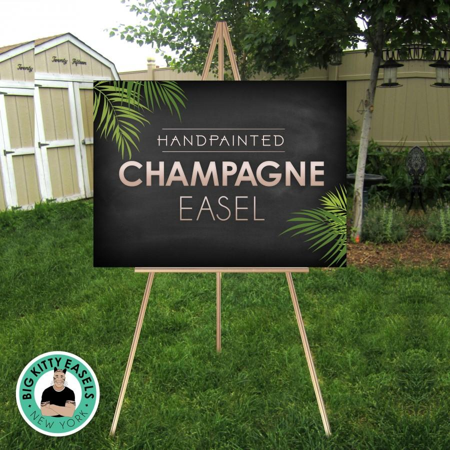 """Wedding - Champagne Easel . Large Wedding Sign Stand . Display lightweight Foam Board, Canvas, Wood, Acrylic signs up to 24"""" x 36"""" and 8lbs"""