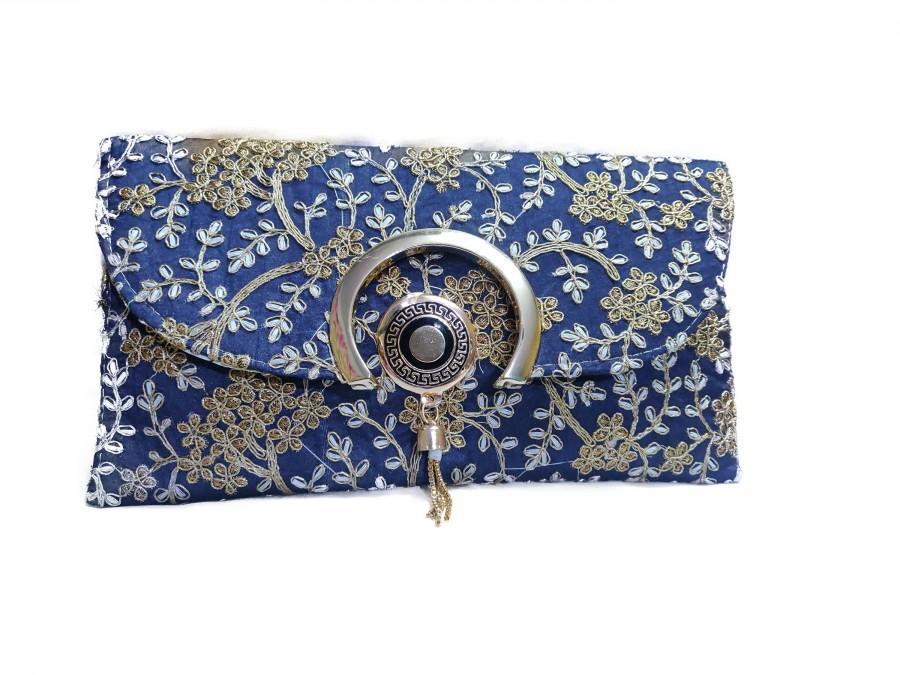 زفاف - Rajasthani Clutch, Handmade Beautiful Clutch Bag, Boho Style Embroidery Clutch, Unique Design Clutch, Beautiful Clutch For Women,