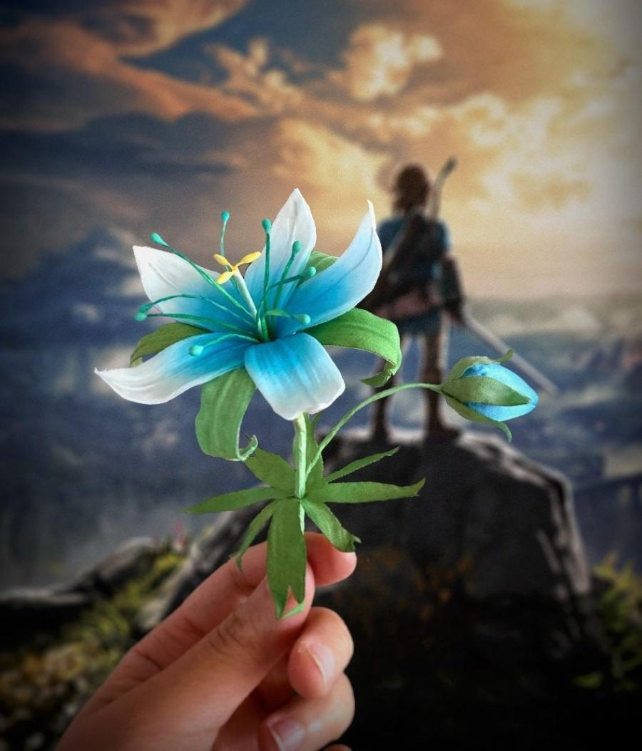 Hochzeit - Legend of Zelda Silent Princess Flower Replica - BOTW - Breath of the wild - Silk Flowers - Wedding Flowers - Cosplay Prop
