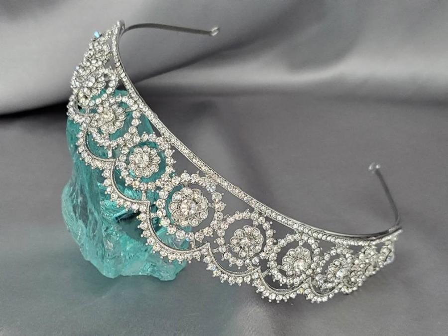Hochzeit - Swarovski bridal tiara, Royal tiara replica , Royal wedding bridal tiara,  Norway princess bridal headpiece, Luxury diamante hairpiece