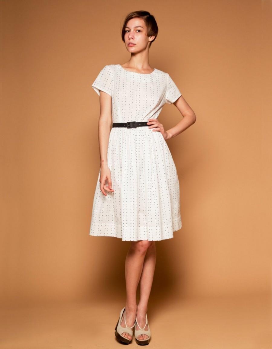 زفاف - Women Dress, Flare Dress, 1950's Dress, Polka Dot Dress, Alternative Wedding Dress, Bridesmaid Dress, Simple Wedding Dress, Midi Dress