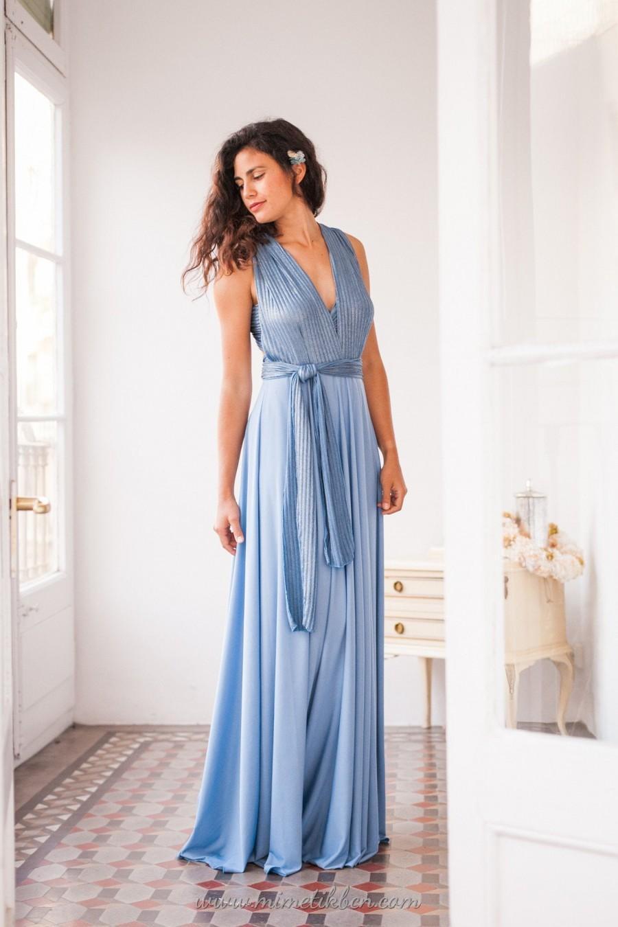 زفاف - Bridesmaid dress light blue, Bridesmaid multi way dress light blue, Placid blue bridesmaid dress, Bridesmaid dress blue long, Infinity dress