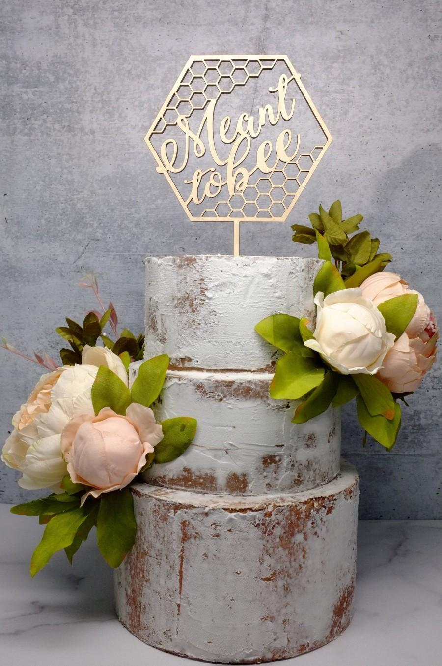 Свадьба - Meant to Bee Bridal Shower Cake Topper