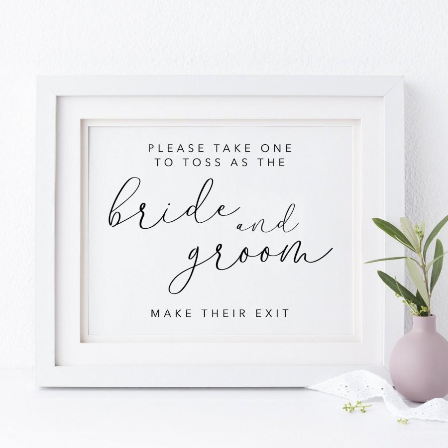Mariage - Wedding Toss Sign. Petal Toss Sign. Wedding Confetti Sign. Bride And Groom Sign. Ceremony Sign. Wedding Signs. Ceremony Exit. Wedding Prints