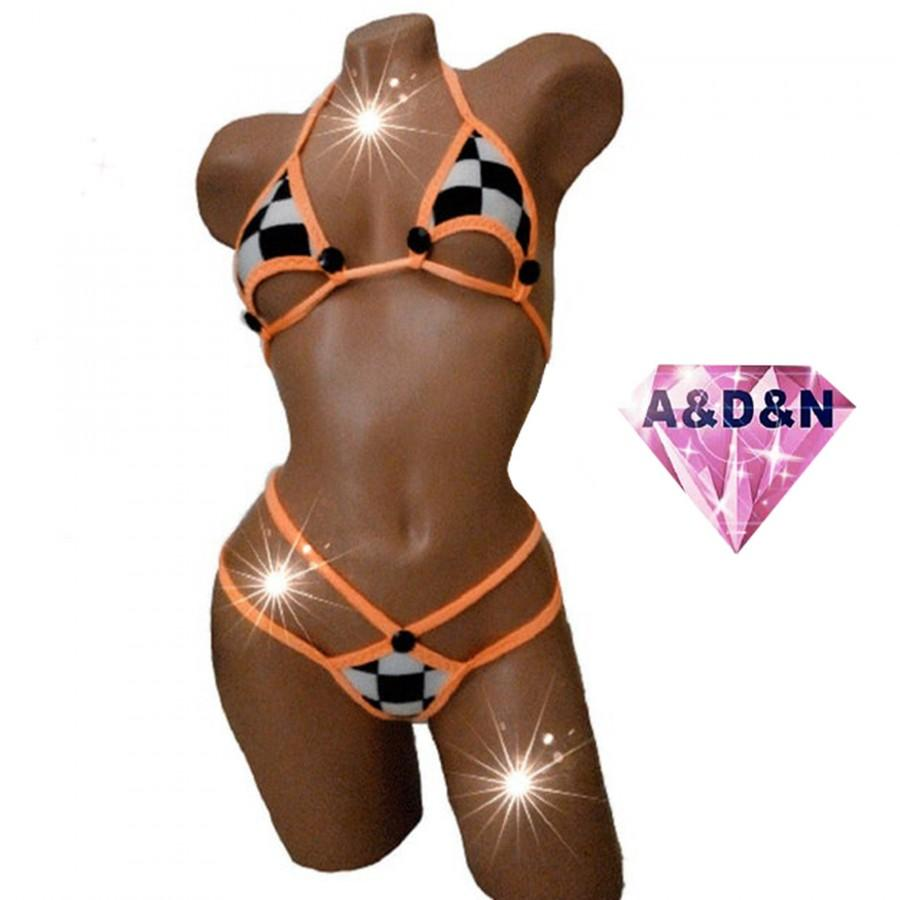 Wedding - Samba Carnival Costume Stripper Outfits rave bodysuit Extreme micro bikini Rave Outfit Edc Outfit  Sexy Cosplay woman Exotic Dancewear