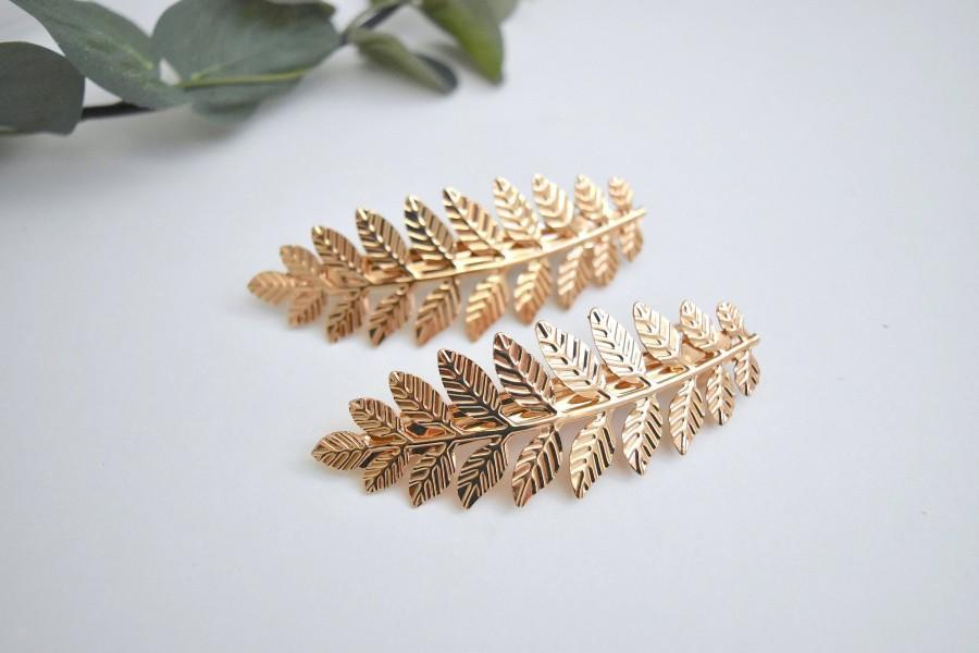 Mariage - Grecian Style Gold Leaf Bridal Wedding Hair Clip/Hair Comb/Hair Accessory/Hair Pin