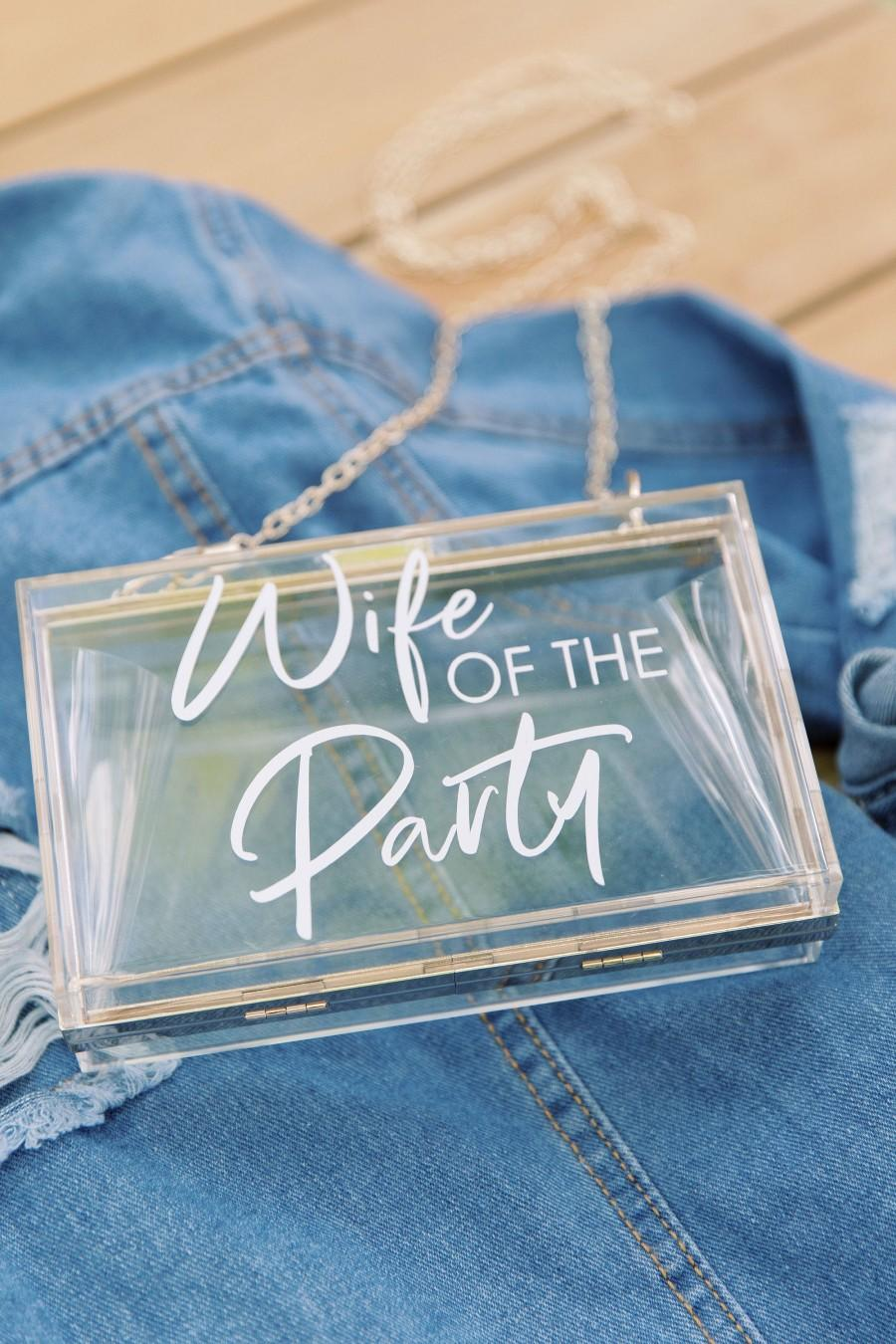 Hochzeit - Wife of the Party Clear Box Clutch