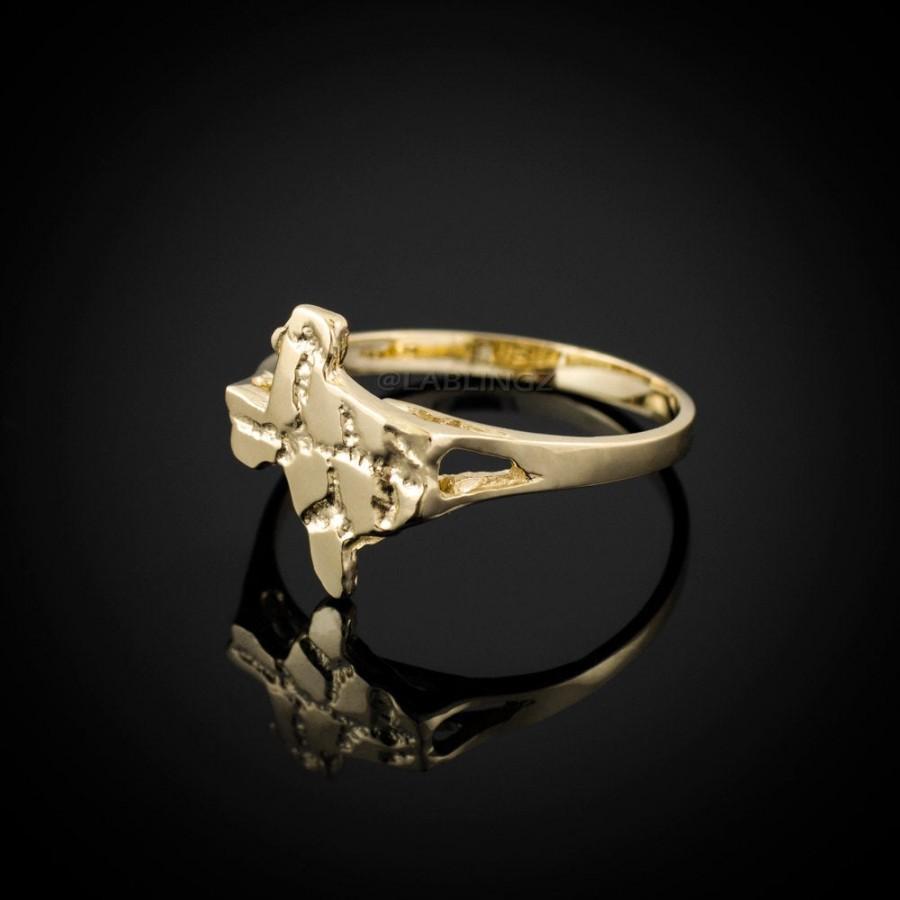 Mariage - Ladies Gold Texas Nugget Ring (yellow, white gold, 10k, 14k)