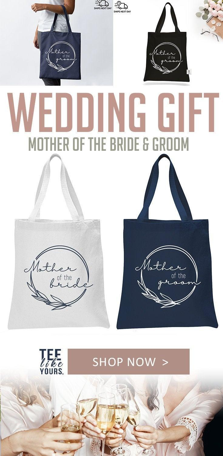 Wedding - Parents Wedding Gift Tote Bags, Mother of the Bride Gift, Mother of the Groom tote bag, Parents Wedding Day, To my Parents on my wedding day