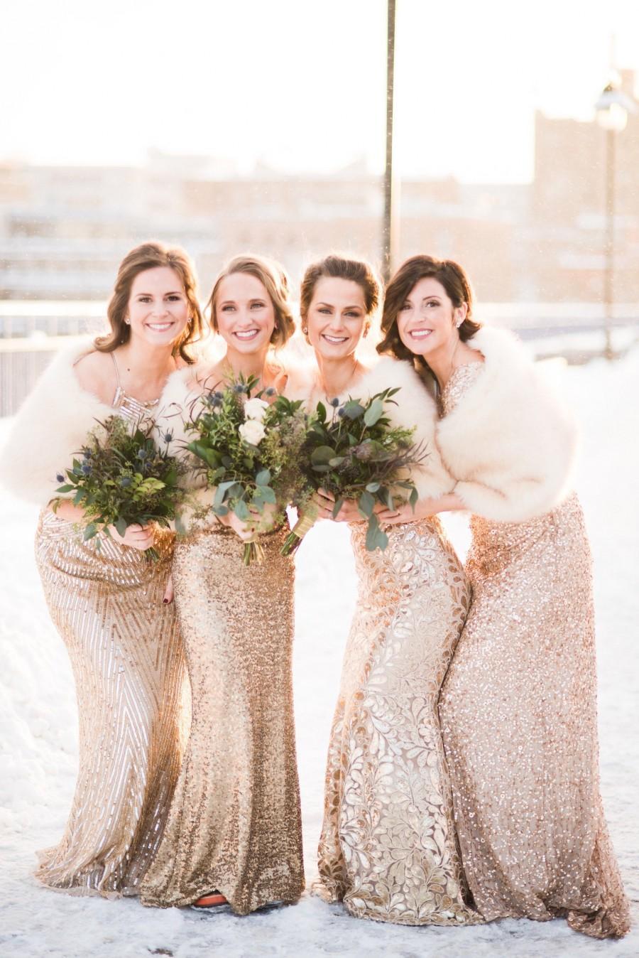Свадьба - Gold Champagne Faux Fur bridal Wrap, Wedding Fur Shrug, Bridal Faux FurStoleFur Shawl Cape (Serena Cha03)