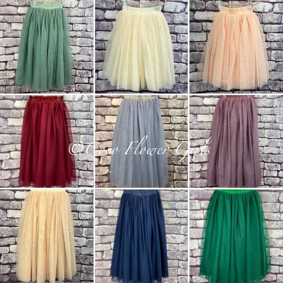 Mariage - Pretty Longer Length Layered Floaty Ballet 'Felicity' Tulle Tutu Skirts - Various Colours