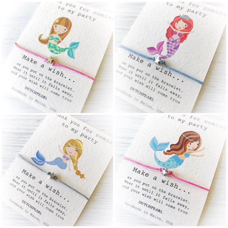 زفاف - Mermaid birthday party favor wish bracelet
