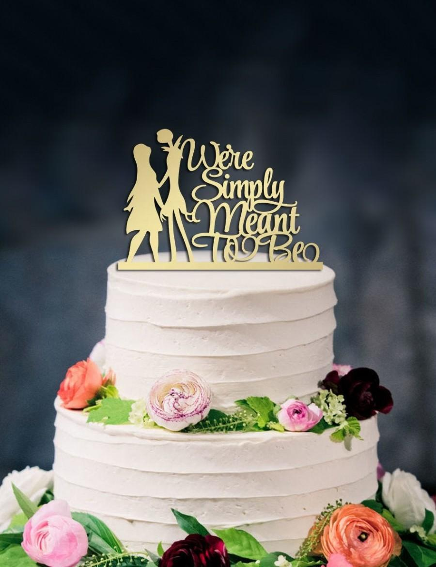 Mariage - Jack and Sally Cake Topper, Disney Wedding Cake Topper, Simply meant to be, Custom cake topper,table numbers
