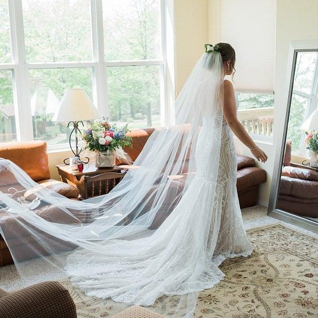 Mariage - Etsy Cathedral veil wedding veil bridal Wedding Veil WHite, Ivory, diamond white abusymother veils for wedding