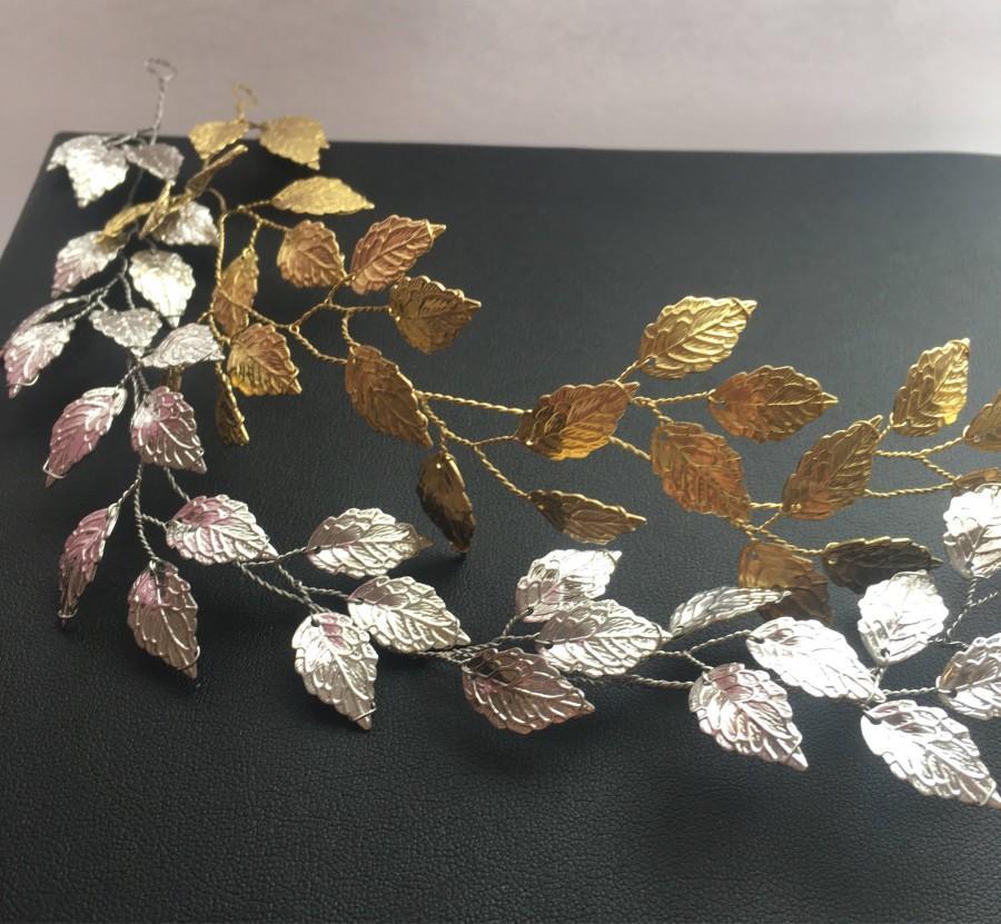 زفاف - Prom hair accessories leaf tiara Greek style headpiece Grecian tiara bridal hair vine wedding hair piece bridesmaid gift bridal hair piece