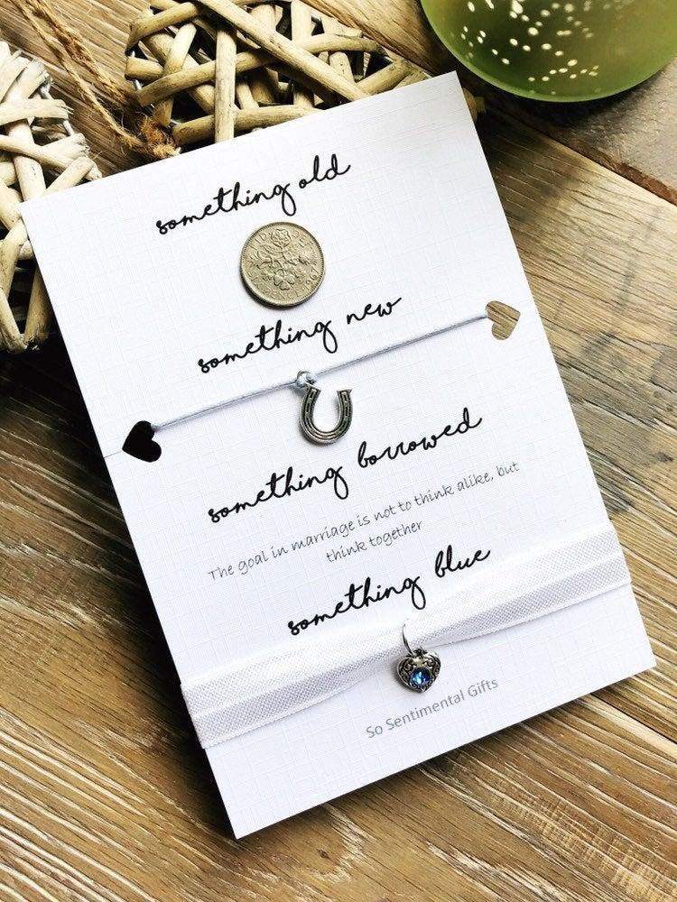 Hochzeit - Something Blue Gifts - Lucky Sixpence Bride Gift