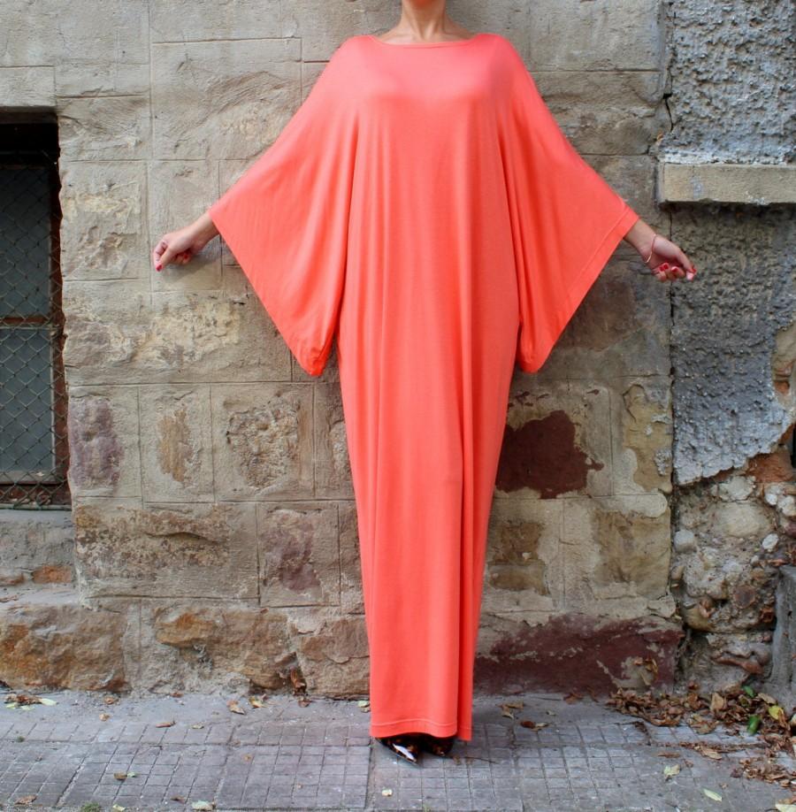 Wedding - Coral Wide Sleeve Abaya