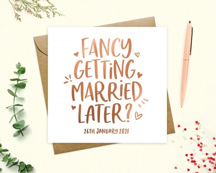 Свадьба - To my groom or bride Wedding Day Card, Personalised Groom or Bride Card, Fancy getting married later, Wife, Husband, Keepsake, Real Foil