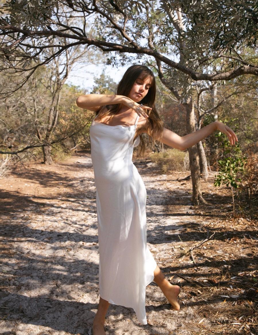 Wedding - Bamboo Satin Freya Slip dress,  Boho Gypsy Dress