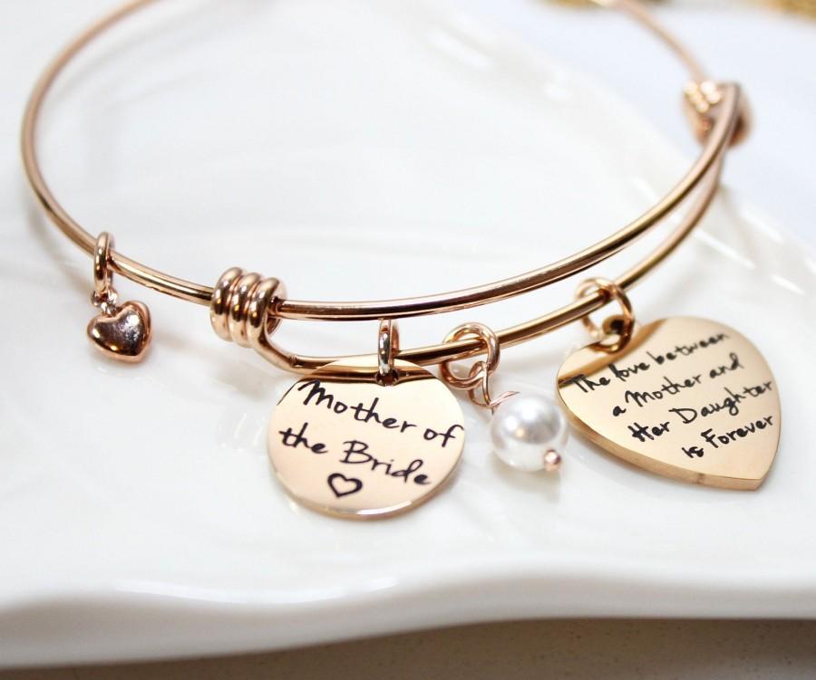 Свадьба - mother of the bride bracelet, personalized mother of the bride bracelet, mother of the bride date bracelet, mother of the bride gift