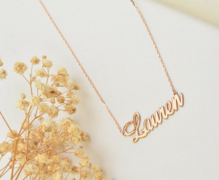 Wedding - Personalised 18K Gold & 18K Rose Gold Plated Silver Necklace / Gift for Loves wife / Valentine's Day Gift / Mother's days gift / Wedding /