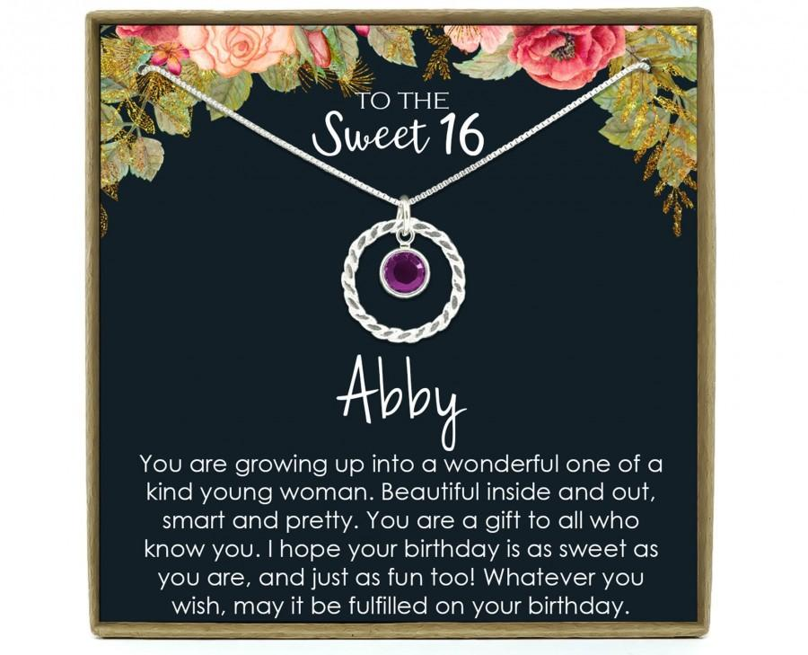 Wedding - Sweet 16 gift, 16th birthday gift girl necklace, sweet 16 necklace, gift for 16 year old girl