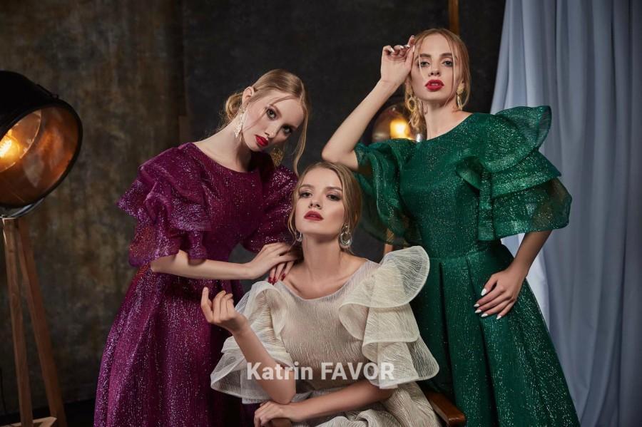 Hochzeit - Boho Dress Evening Gown Purple Dress Bohemian Dress Sheer Dress Formal Dress Glitter Dress Wedding Guest Dress Prom Dress Long Bell Sleeve