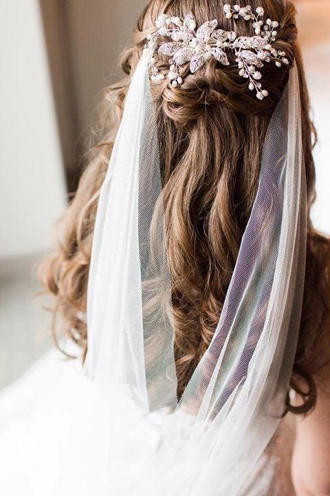 """Wedding - Wedding Hair Accessory, Boho bridal pearl crystal  Hair Vine Comb Bridal Hair Accessory, """"Emmaline"""""""